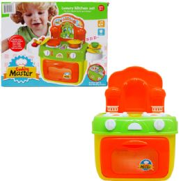 12 Units of KITCHEN PLAY SET WITH LIGHT AND SOUND IN COLOR BOX - Educational Toys