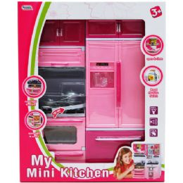 12 Units of Mini Kitchen Stove And Fridge In Window Box - Girls Toys