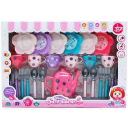12 Units of 25pc Tea Play Set In Window Box - Toy Sets