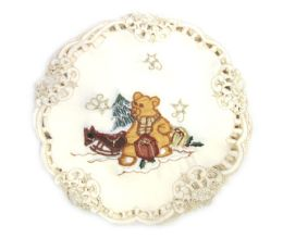 48 Units of Holiday Teddy Bear 11 Inch Round - Oven Mits & Pot Holders
