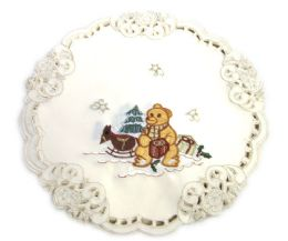 48 Units of Holiday Teddy Bear 23 Inch X 23 Inch Square - Oven Mits & Pot Holders