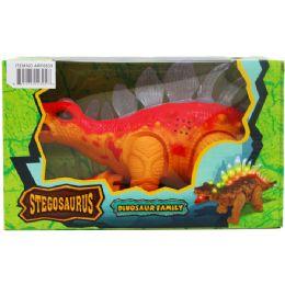 "12 Units of 14"" B/o Dino Stegosaurus In Window Box, 2 Assorted Colors - Animals & Reptiles"