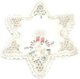 48 Units of Holly & Red Candle & Bell 15 inch Star Shaped - Oven Mits & Pot Holders