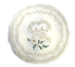 120 Units of Holly & White Candle & Bell 7 inch Round - Oven Mits & Pot Holders