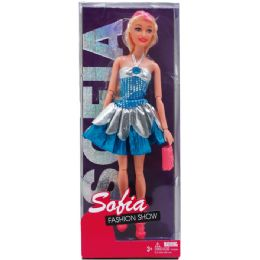 24 Units of Bendable Sofia Doll With Accessories In Window Box - Dolls