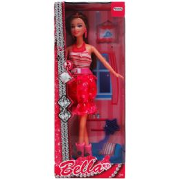 24 Units of Bendable Bella Doll With Accessories In Window Box - Dolls