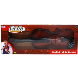 24 Units of VIOLIN PLAY SET WITH BOW IN WINDOW BOX - Musical