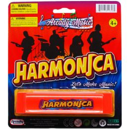 144 Units of Harmonica Play Set On Blister Card - Musical