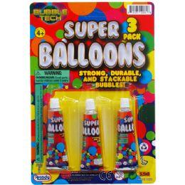 144 Units of Super Ballons On Blister Card - Balloons & Balloon Holder