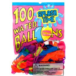 144 Units of ASSORTED WATER BALLOON WITH FILLER IN PEGABLE PP BAG - Water Balloons