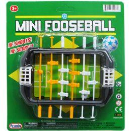 72 Units of Mini Fooseball Play Set On Blister Card - Sports Toys