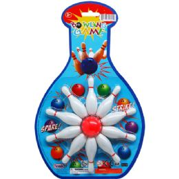 96 Units of Bowling Play Set On Blister Card - Sports Toys