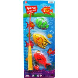 48 Units of Gone Fishing Play Set With Rod On Card - Toy Sets