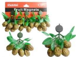 144 Units of Nut Magnets 3pc Walnuts - Refrigerator Magnets