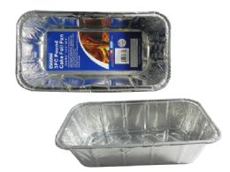 72 Units of 3 Piece Aluminum Loaf Tins - Aluminum Pans