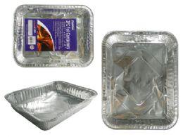 72 Units of 3pc Bbq Foil Roasting Pan - Aluminum Pans
