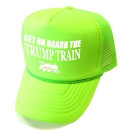 24 Units of Get On Board the Trump Train Mesh Caps - Neon Green - Baseball Caps & Snap Backs