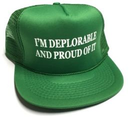 24 Units of I'm Deplorable and Proud of It Printed Mesh Caps - Kelly green - Baseball Caps & Snap Backs