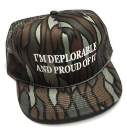 24 Units of I'm Deplorable and Proud of It Printed Mesh Caps - Tree camo - Baseball Caps & Snap Backs