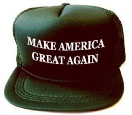 24 Units of Youth Printed Caps - Make America Great Again - Dark Green - Kids Baseball Caps