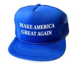 24 Units of Youth Printed Caps - Make America Great Again - Royal Blue - Kids Baseball Caps