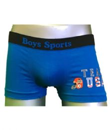 240 Units of Boys Sports Seamless Boxer Briefs. Size large - Boys Underwear