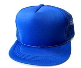 144 Units of Youth Mesh Blank Caps - Kids Baseball Caps