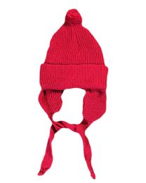 48 Units of Strawberr Infant Cap with Ear Muffs in Assorted Colors - Baby Apparel