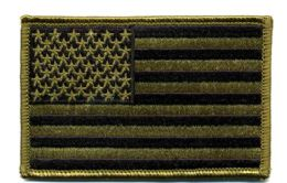 "48 Units of Embroidered iron on patch, U.S. Flag - subdued, approxiamtely 3.5"" wide - Flag"