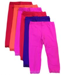 36 Units of Kali & Wins Little Girl's Cotton Tights. Size Medium - Childrens Tights