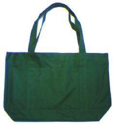 24 Units of Blank Tote Bag In Dark Green - Tote Bags & Slings