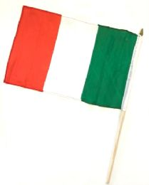 60 Units of Italy Stick Flags - Flag