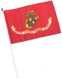 60 Units of Military Marines Stick Flags - Flag