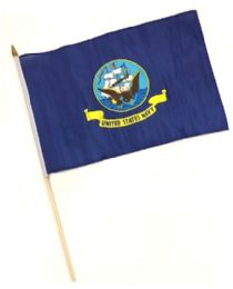 60 Units of HNF 18. Military Navy Stick Flags - Flag