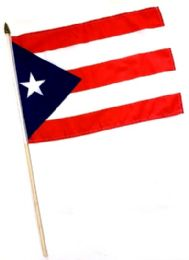 60 Units of Puerto Rico Stick Flag - Flag
