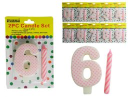"144 Units of 2 PC Happy Birthday Candle Set Size: 2.6"" H - Birthday Candles"