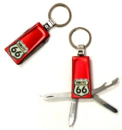 48 Units of Route 66 Keychain Red Color - Key Chains