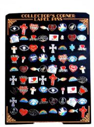 144 Units of 72 Piece hat pins unit, assorted religious designs(styles may vary) - Hat Pins & Jacket Pins