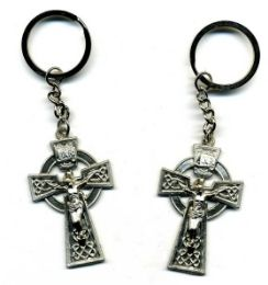 72 Units of Metal keychain, cross design - Key Chains
