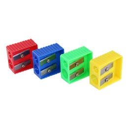240 Units of Kids 2 Hole Pencil Sharpener in 4 Assorted Colors - Sharpeners