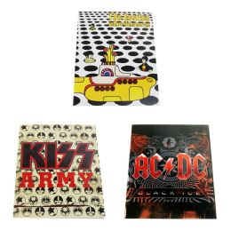 96 Units of Kids Portfolio Folder in 3 Assorted Rock & Roll Band Prints - Folders and Report Covers