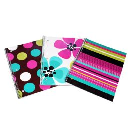 48 Units of Kids Aloha 1 Subject Notebook in Assorted in 3 Multi-Color Prints - Notebooks