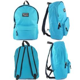 "24 Units of 16.5"" Kids Track Backpacks In Light Blue - Backpacks 16"""