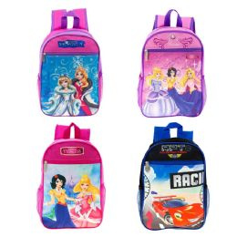 """24 Units of 13"""" Character Backpacks in 4 Assorted Character Prints - Backpacks 15"""" or Less"""