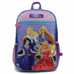 "24 Units of 15"" Character Backpacks in a Multi-Color Junior Elf Princess Print - Backpacks 15"" or Less"
