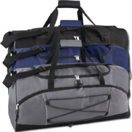 24 Units of 26 Inch Bungee Duffel Bag Assorted Colors - Duffel Bags