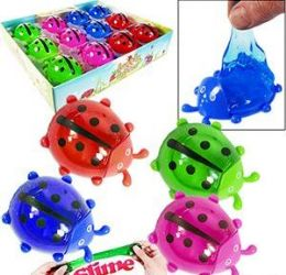 120 Units of Glitter Lady Bug Slimes - Slime & Squishees