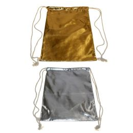 24 Units of Drawstring Bags in 2 Assorted Metallic Colors - Draw String & Sling Packs