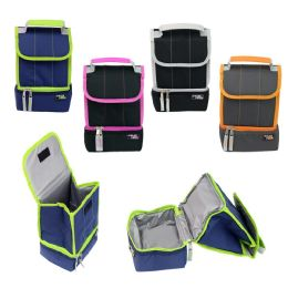"""24 Units of 10"""" Roll Top Cooler Lunch Bag in 4 Assorted Colors - Lunch Bags & Accessories"""