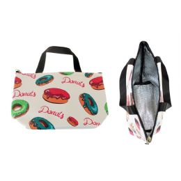 24 Units of Insulated Lunch Tote in Donut Print - Lunch Bags & Accessories